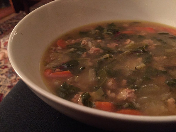 Pork, Fennel and Chard Soup