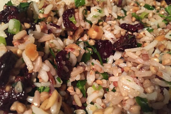 Buckwheat and Rice Salad with Dried cherries and Hazelnuts: Cooking Ottolenghi!