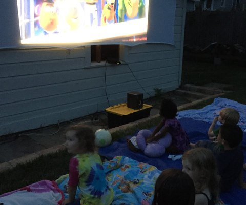 Cocktail Party for the Adults; Outdoor Movie for the Kids!