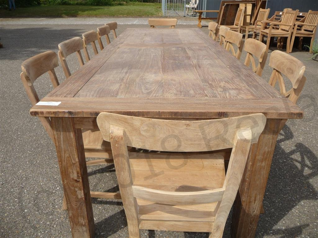 Teak Eettafel 300 Cm Teak Table 300 X 100 Cm Reclaimed Reclaimed Teak Furniture