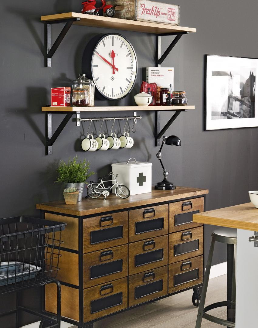 Storage Units For Kitchens Black Kitchen With Factory Style Storage Download