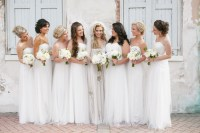 Long White Bridesmaid Dresses | SouthBound Bride
