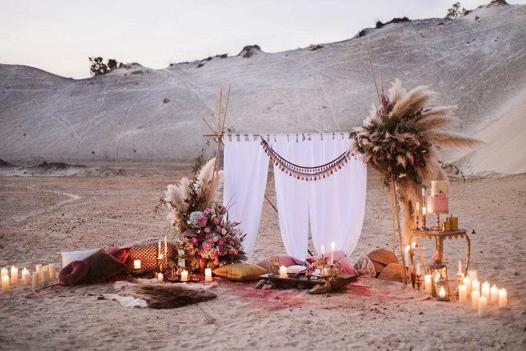 Nomadic Desert Boho Elopement Inspiration By Jessica