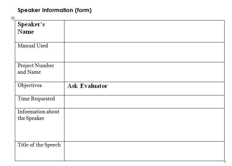 toastmaster evaluation form - Acurlunamedia