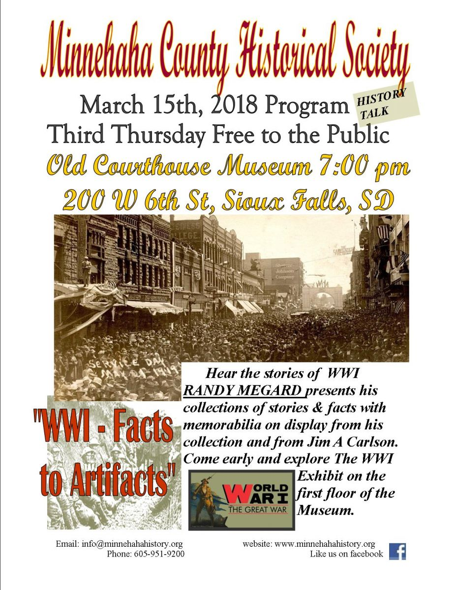 Facts About Wwi Wwi Facts And Artifacts Sioux Falls