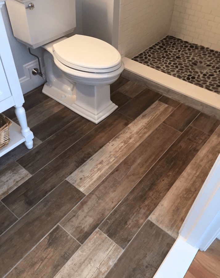 Hardwood Look Tile Bathroom Featured Renovation South Eastern Carpentry