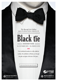 Black Tie Invitation Template.Black Tie Stock Images