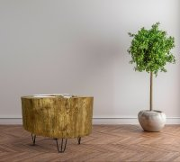 Natural Tree Stump Side & End Tables  Southern Sunshine