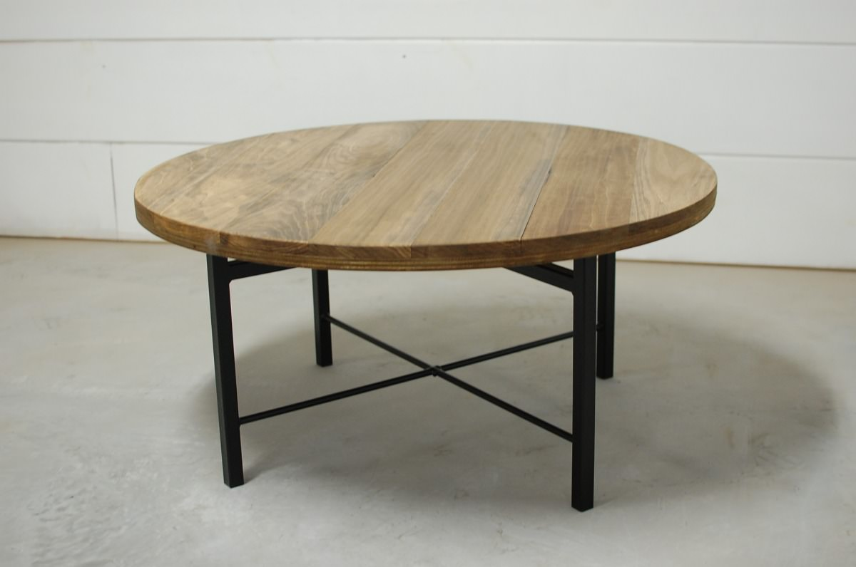 Round Industrial End Table Wellington Round Industrial Coffee Table Southern Sunshine