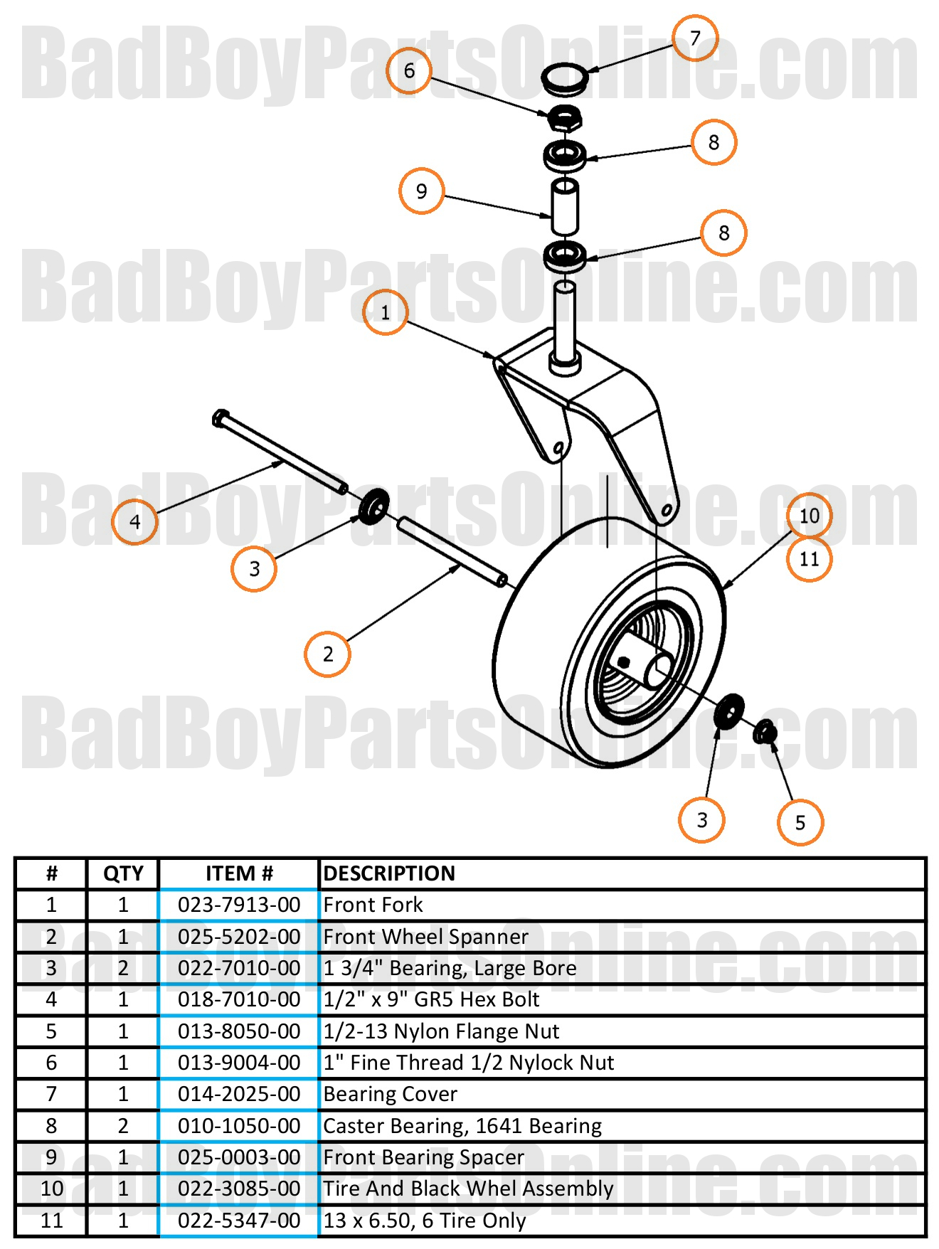 Compact Bad 2017 Compact Outlaw Front Fork Parts And Schematic
