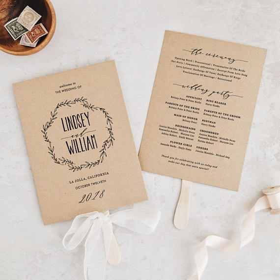 Wedding Order of Service Wording Template What to include  examples! - how to design wedding program template