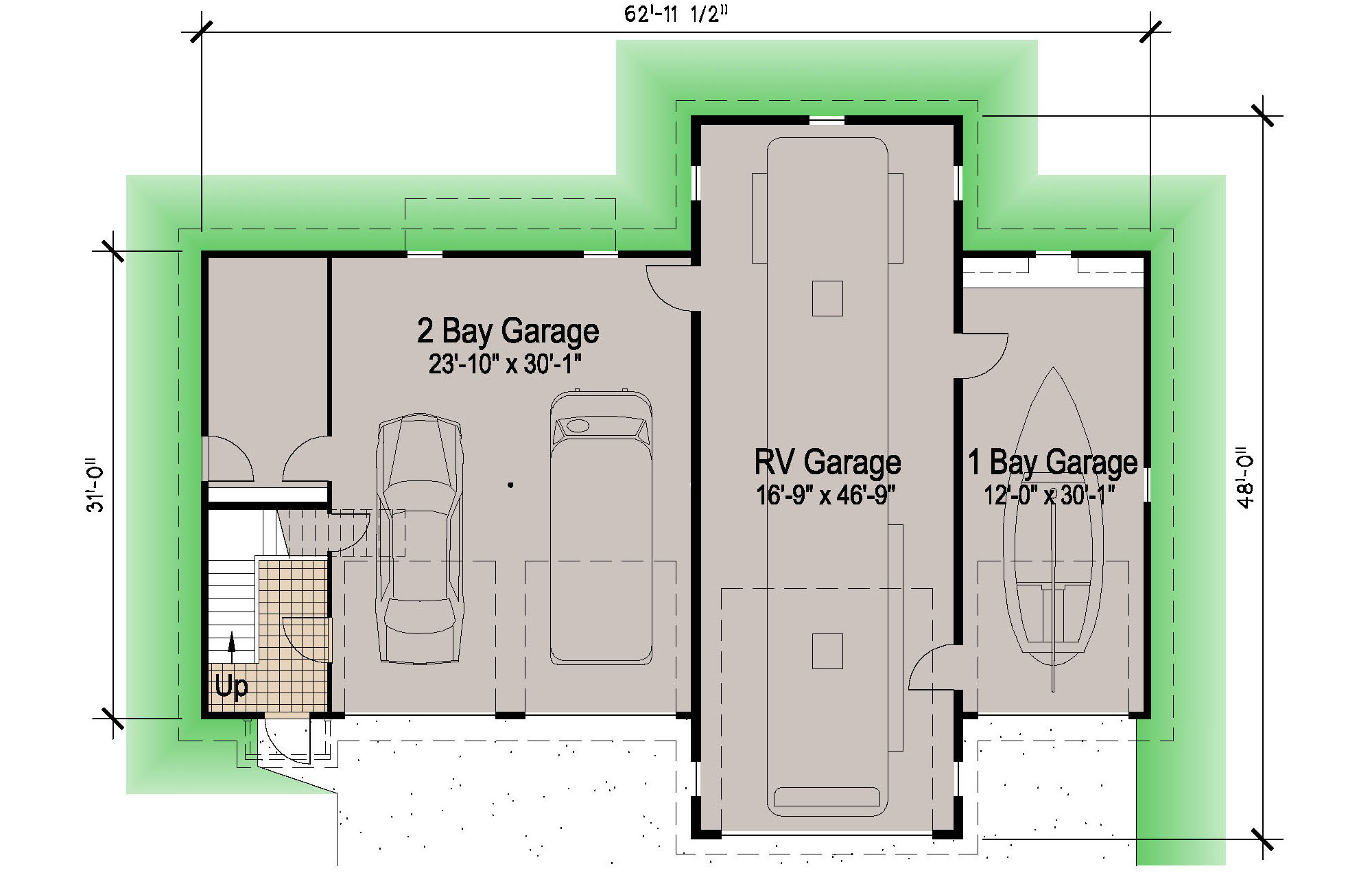 Garage Apartment Plans With Rv Storage Island Rv Garage 45 Motor Home Southern Cottages
