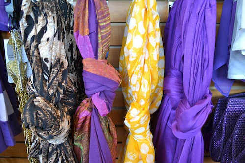 Purple and Gold Scarves