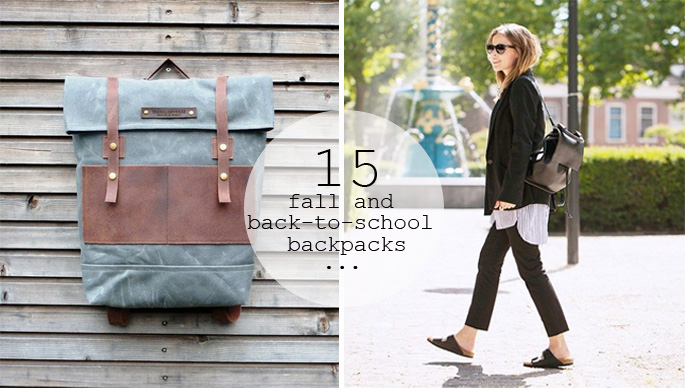 15 Trendy Backpacks perfect for fall and back-to-school