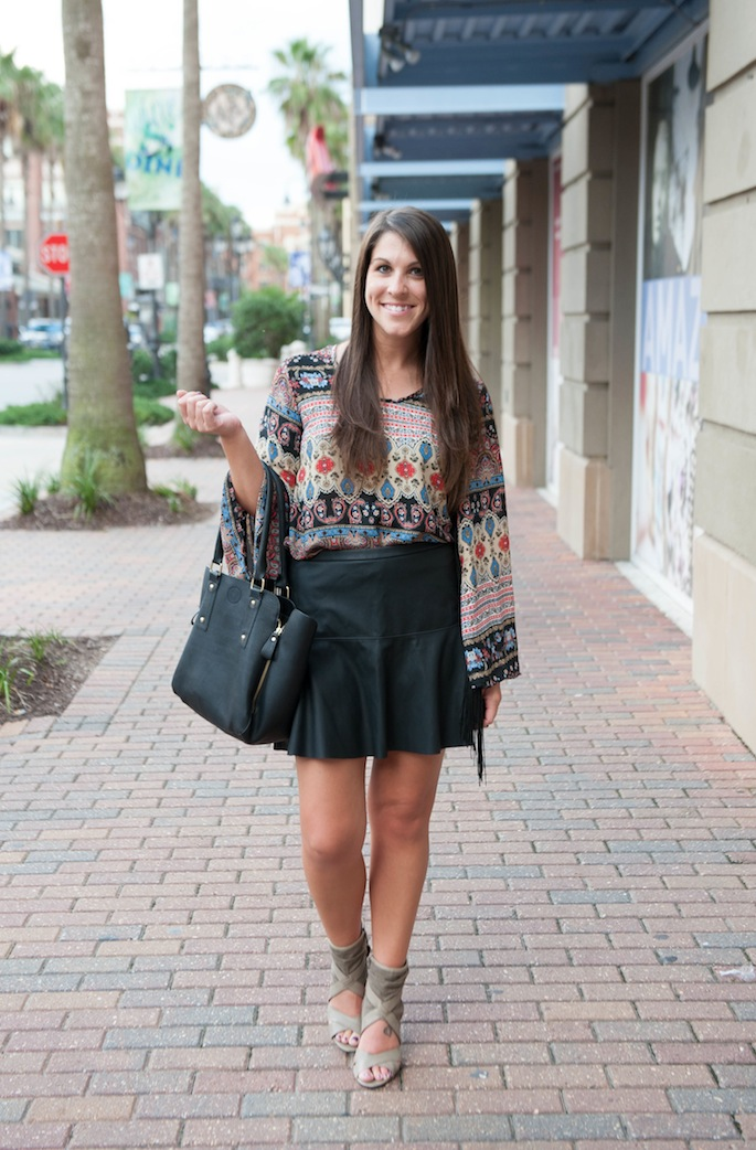 Faux Leather Mini Skirt | Southern Flair