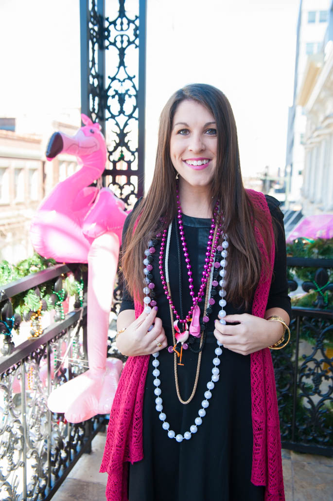 Baton Rouge Spanish Town Pink Mardi Gras Parade Outfit | Southern Flair