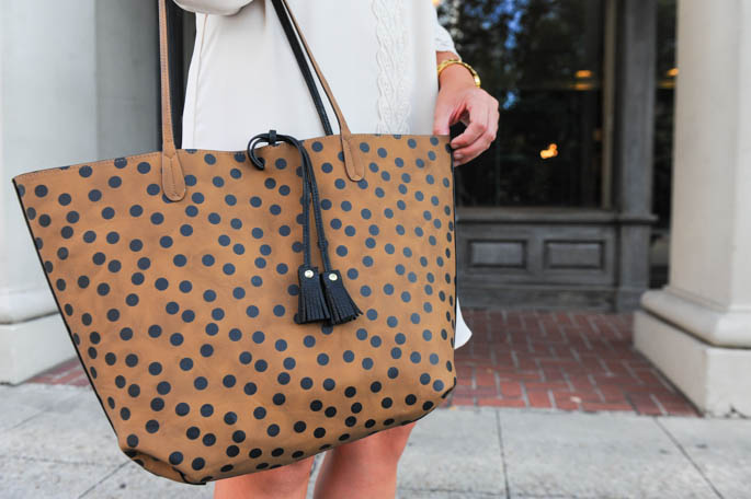 Spotted Animal Print Bag from Mud Pie