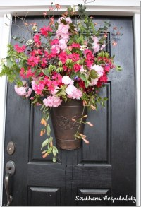 Fresh Spring Floral Door Bucket - Southern Hospitality
