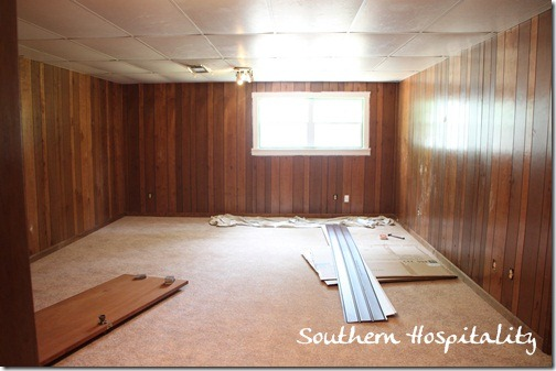 House Renovation: Week 12, Paint That Paneling, People! - Southern