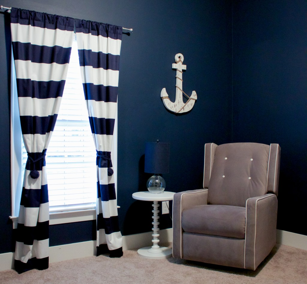 Nautical nursery curtains - Nautical Nursery Reveal Southern Made Blog Glider Available At Walmart Curtains Via