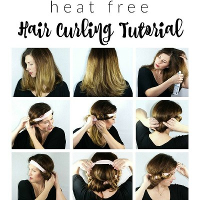 Heat Free Hair Curling Tutorial + A Giveaway