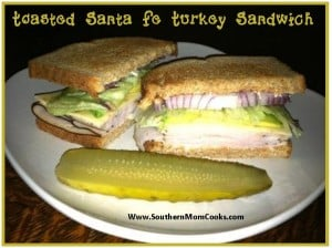 Toasted Santa Fe Turkey Sandwich 2