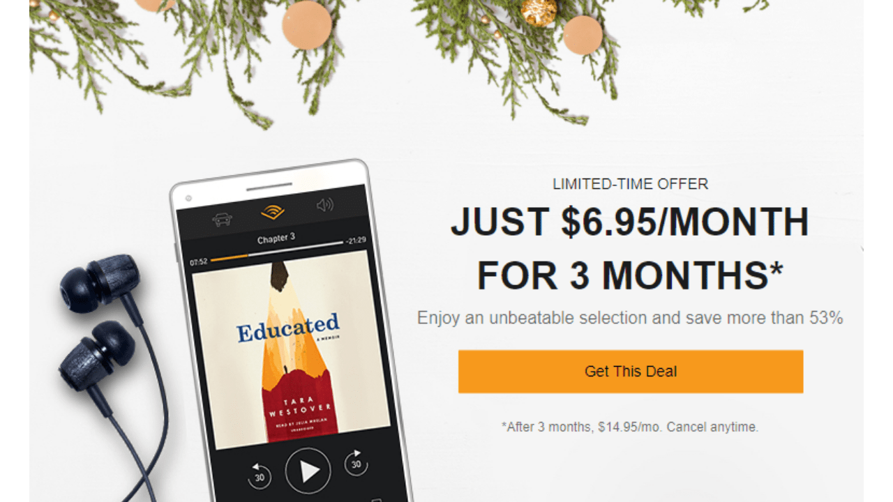 Amazon Audible Cancel Membership Audible Membership 6 95 Month For 3 Months Southern Savers