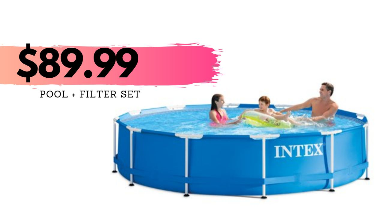 Aldi Intex Pool Intex 10 Ft Round Pool Set For 89 99 Shipped Southern Savers