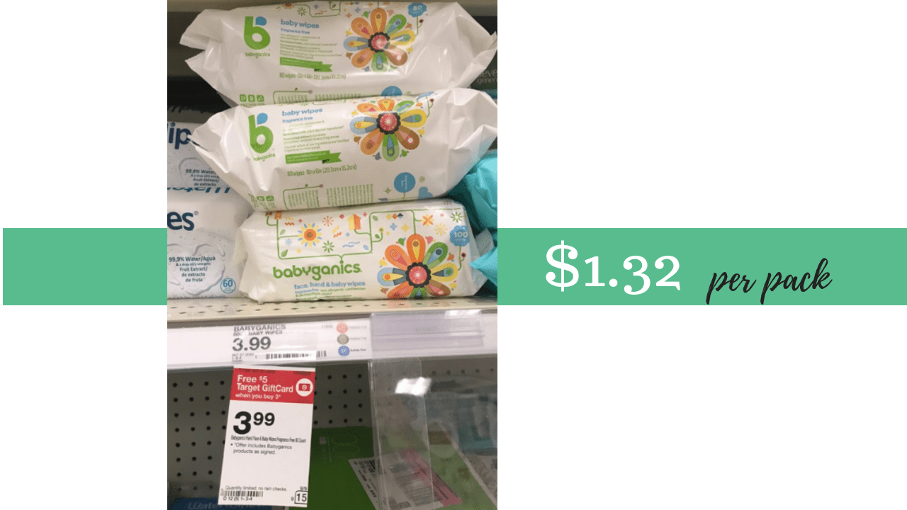 Target Baby Wipes Babyganics Gift Card Deal Baby Wipes 1 32 At Target Southern
