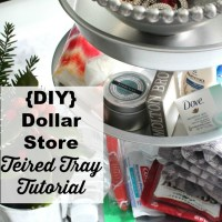{DIY} Dollar Tree Three Tier Tray Tutorial