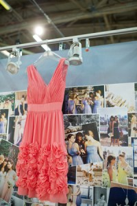 The coral dress, with its sassy texture, seemed like it ...