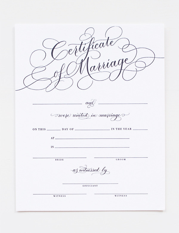 Introducing the Southern Weddings Marriage Certificate! - Southern - marriage certificate