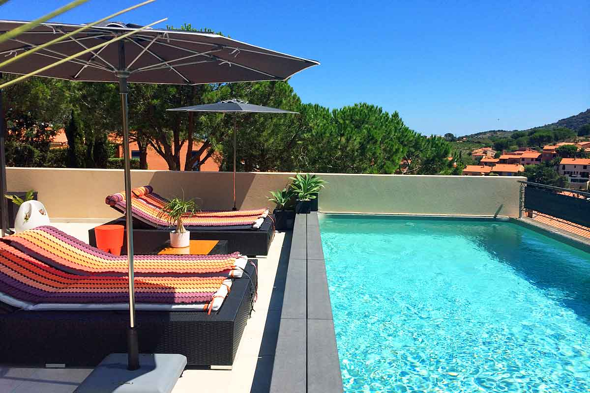 Jacuzzi Pool Villa Bandos Luxury Modern Villa In Collioure France With Hot Tub