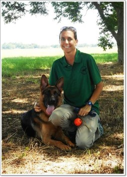 Sara Jackson and K9 Maverick
