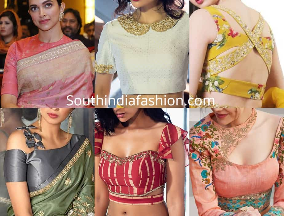 Latest Pictures Saree Blouse Designs 2019 Blouse Back Side And Front Neck Patterns