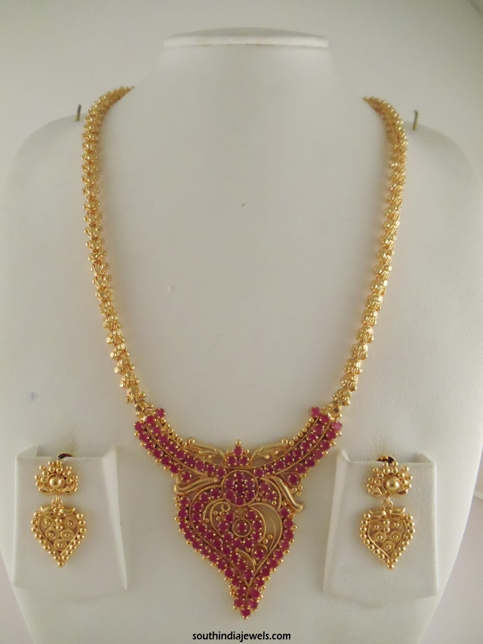 Luxury Latest Gold Necklace Designs In Indian | Jewellry\'s Website