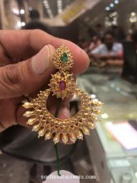 Gold Stone Earrings Designs ~ South India Jewels