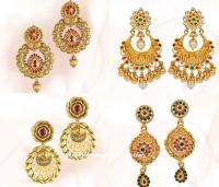 Gold Earrings Design from GRT ~ South India Jewels