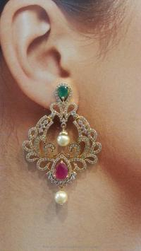 Chand Bali Earrings 1 Gram Gold - Jewelry FlatHeadlake3on3