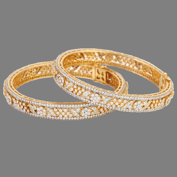 Diamond Bangle Design From Lalitha Jewellery ~ South India