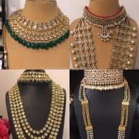Indian Bridal Kundan Jewelry Sets In Gold