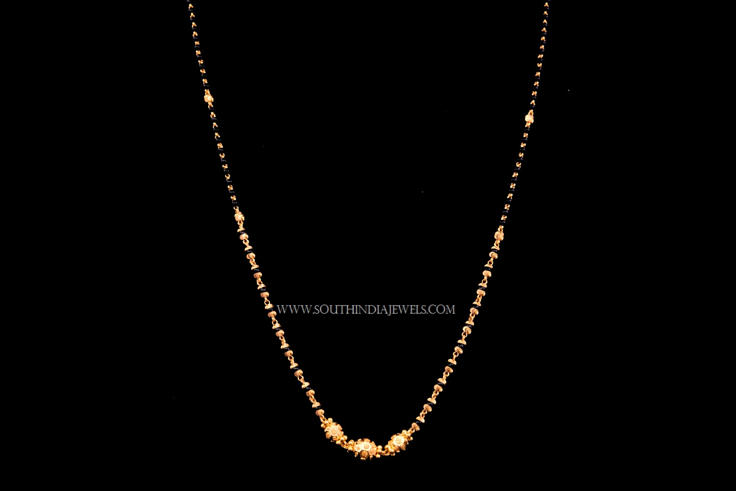 Simple 22k gold chain necklace south india jewels