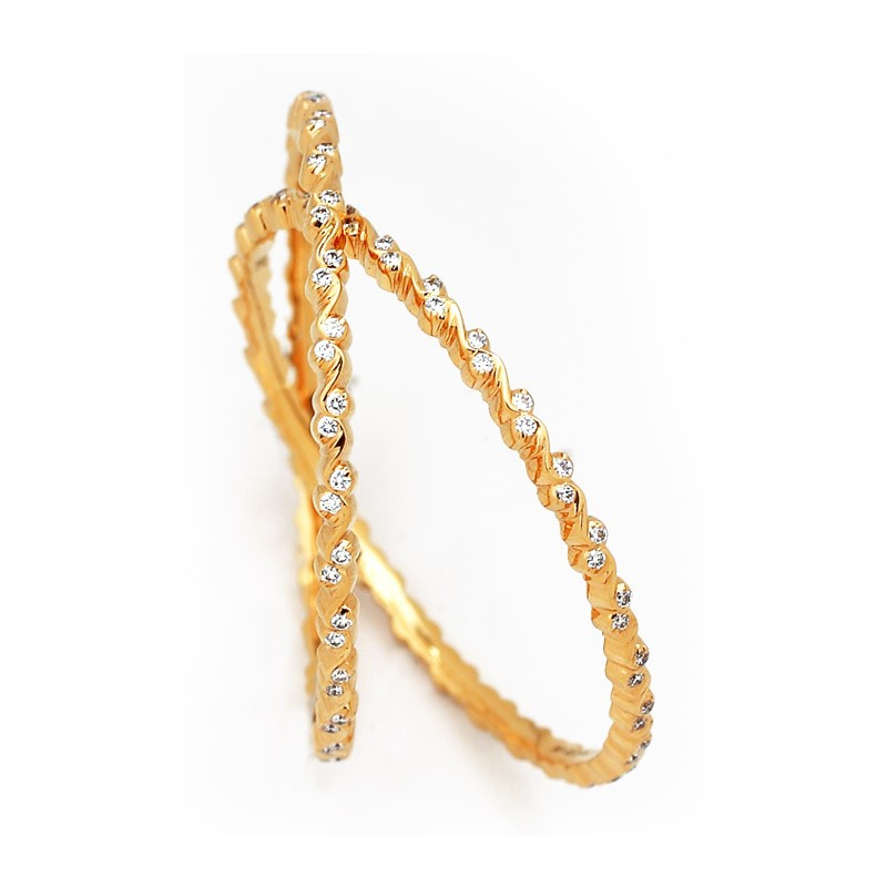Single Line Diamond Bangle Designs ~ South India Jewels
