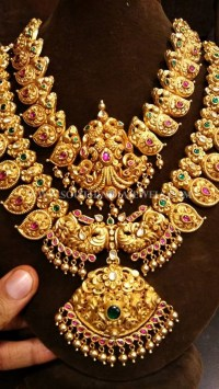 Bridal Gold Antique Jewellery Set ~ South India Jewels
