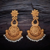 Matt Finish Antique Earrings Design ~ South India Jewels