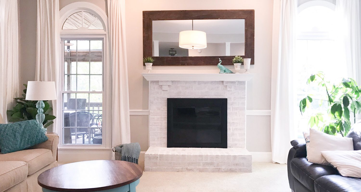 Lime Wash Brick Fireplace How To Limewash Your Brick Fireplace South Lumina Style