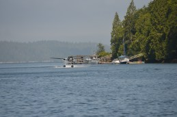 Doctor fly seaplane to check patient in Bamfield.