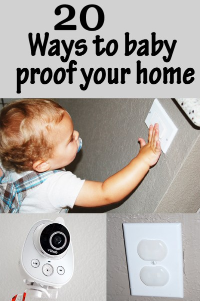 20 ways to baby proof your home
