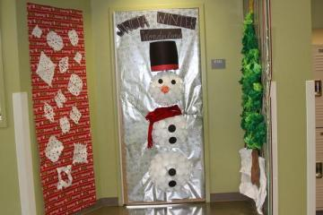 "Mrs. Elaina Nelson's door won for ""Most Creative"" for this year's contest.Photo Credit: Kristine Faccinto"