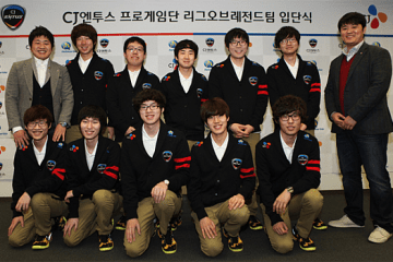 Azubu Frost and Blaze were signed to CJ Entus as their new League of Legends team.Courtesy of CJ Entus